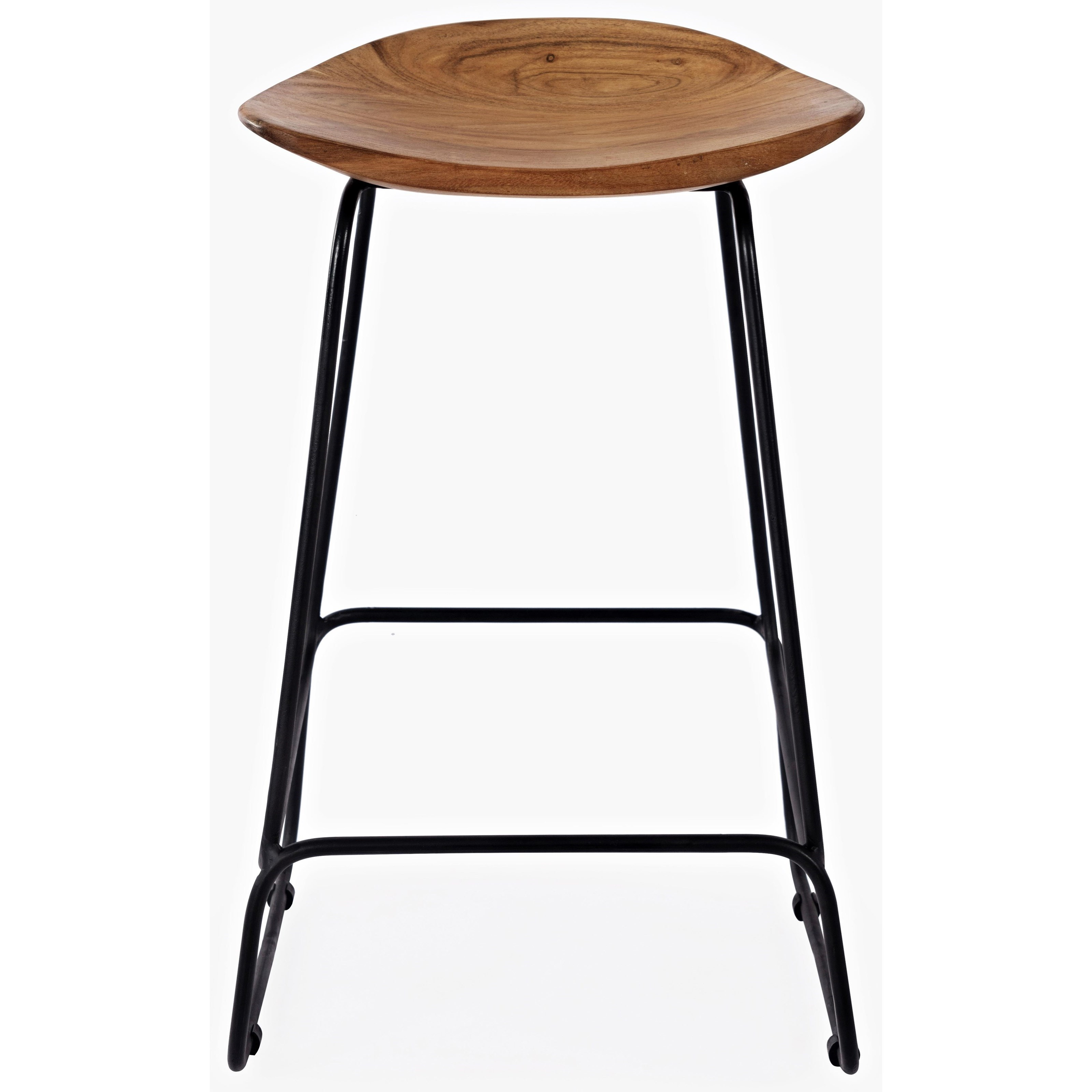 Live Edge Natural Backless counter height bar Stool at Walker's Furniture