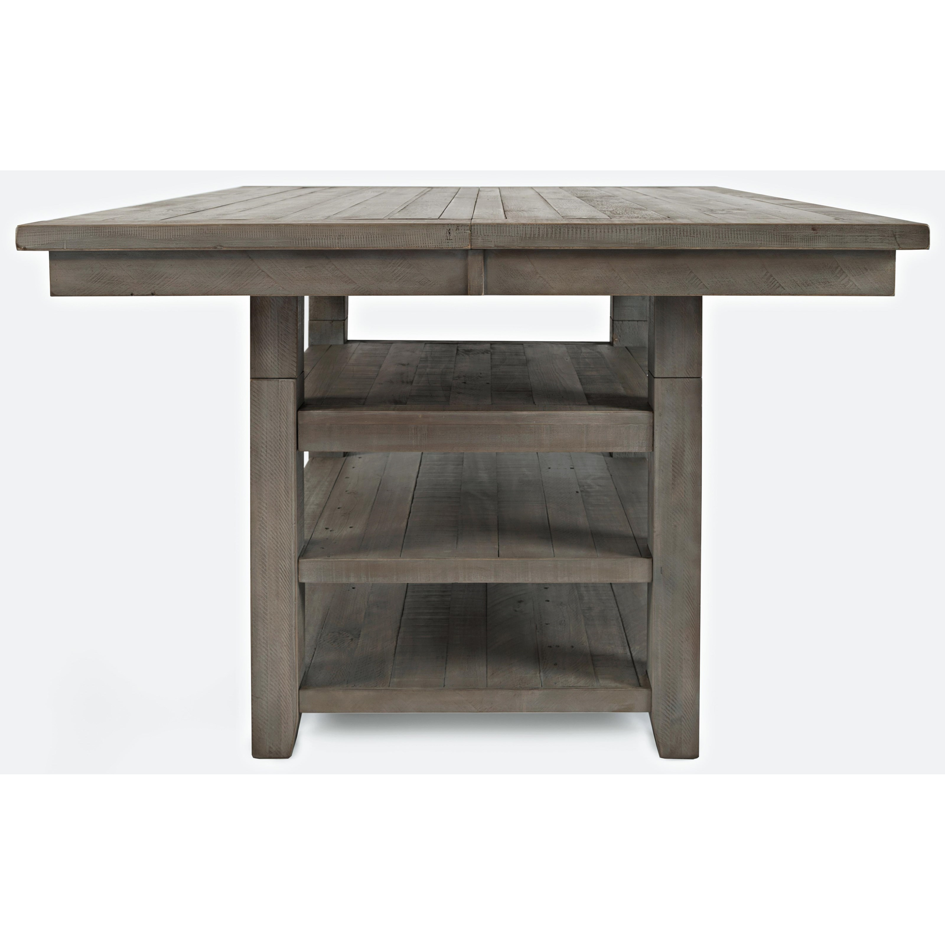 Outer Banks Hi/Low Square Storage Dining Table by Jofran at Jofran