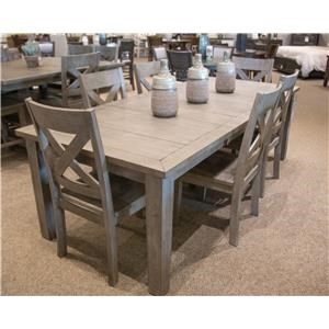 Rectangular Dining Table & 6 Side Chairs