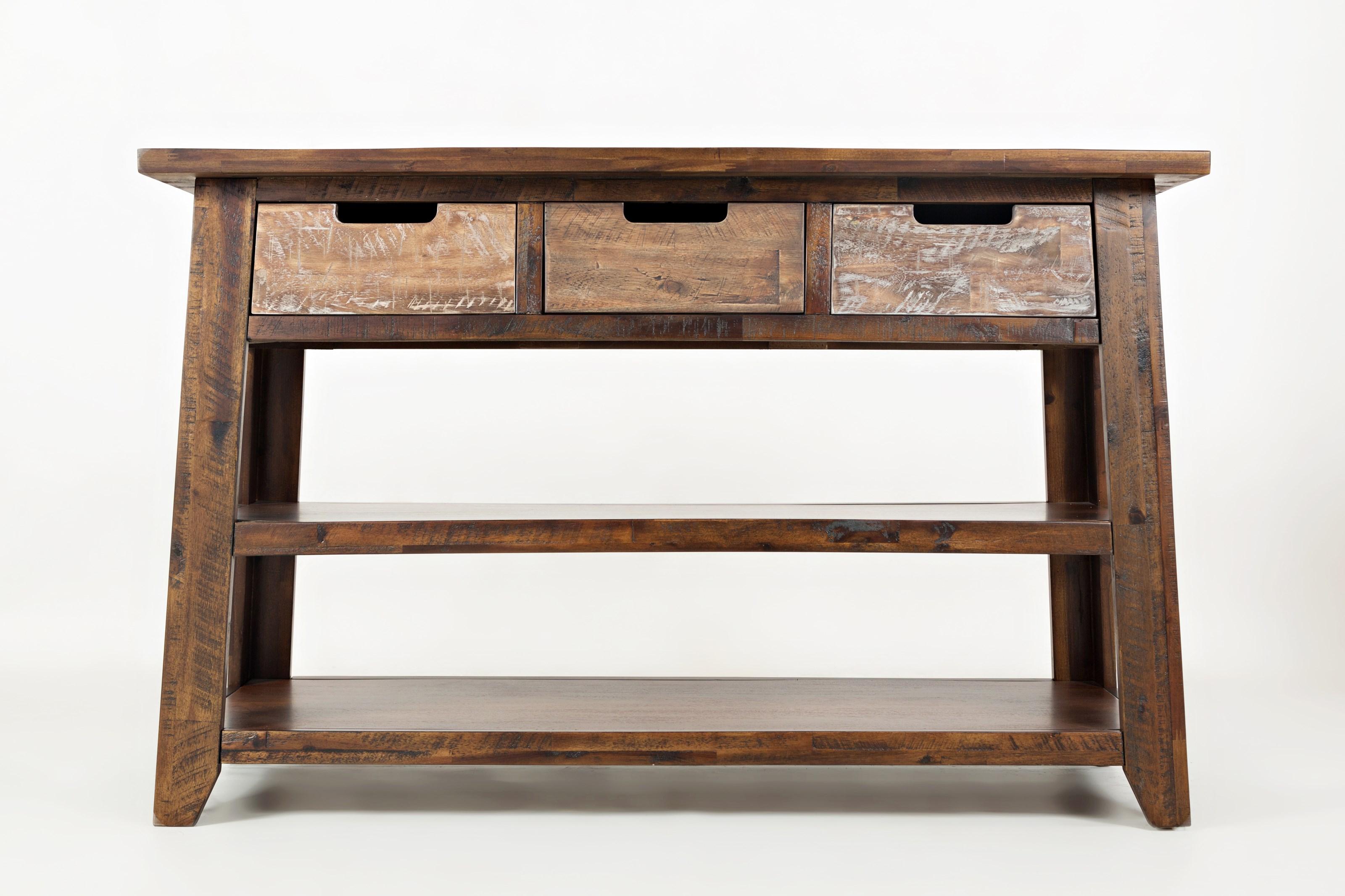 Painted Canyon Sofa Table by Jofran at HomeWorld Furniture