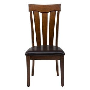 Slat Back Chair with Upholstered Seat