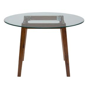 "48"" Round Dining Height Table with Glass Top"