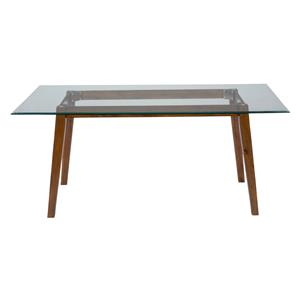 "72"" Rectangle Dining Height Table with Glass Top"