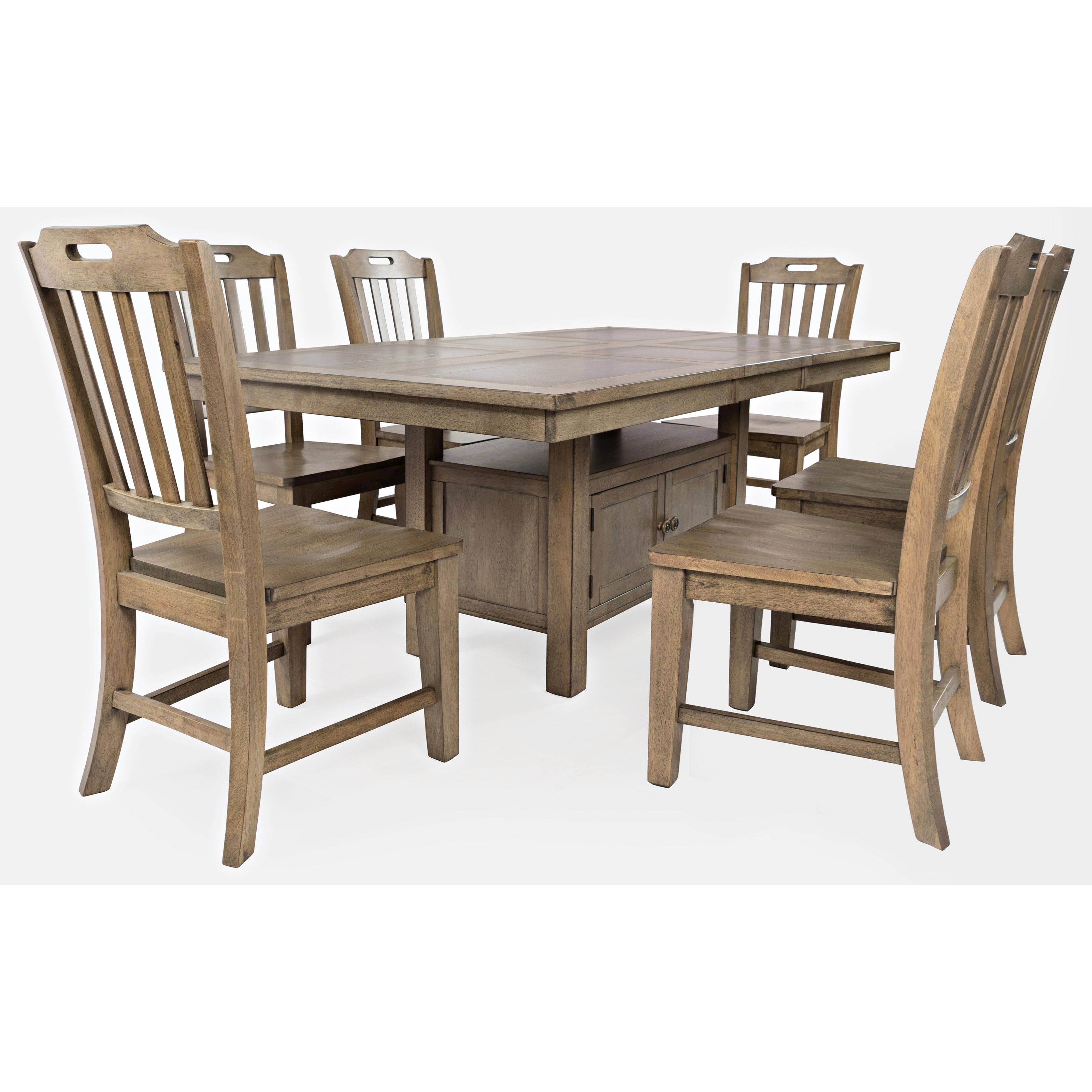 Prescott Park 7-Piece Dining Table and Chair Set by Jofran at Jofran