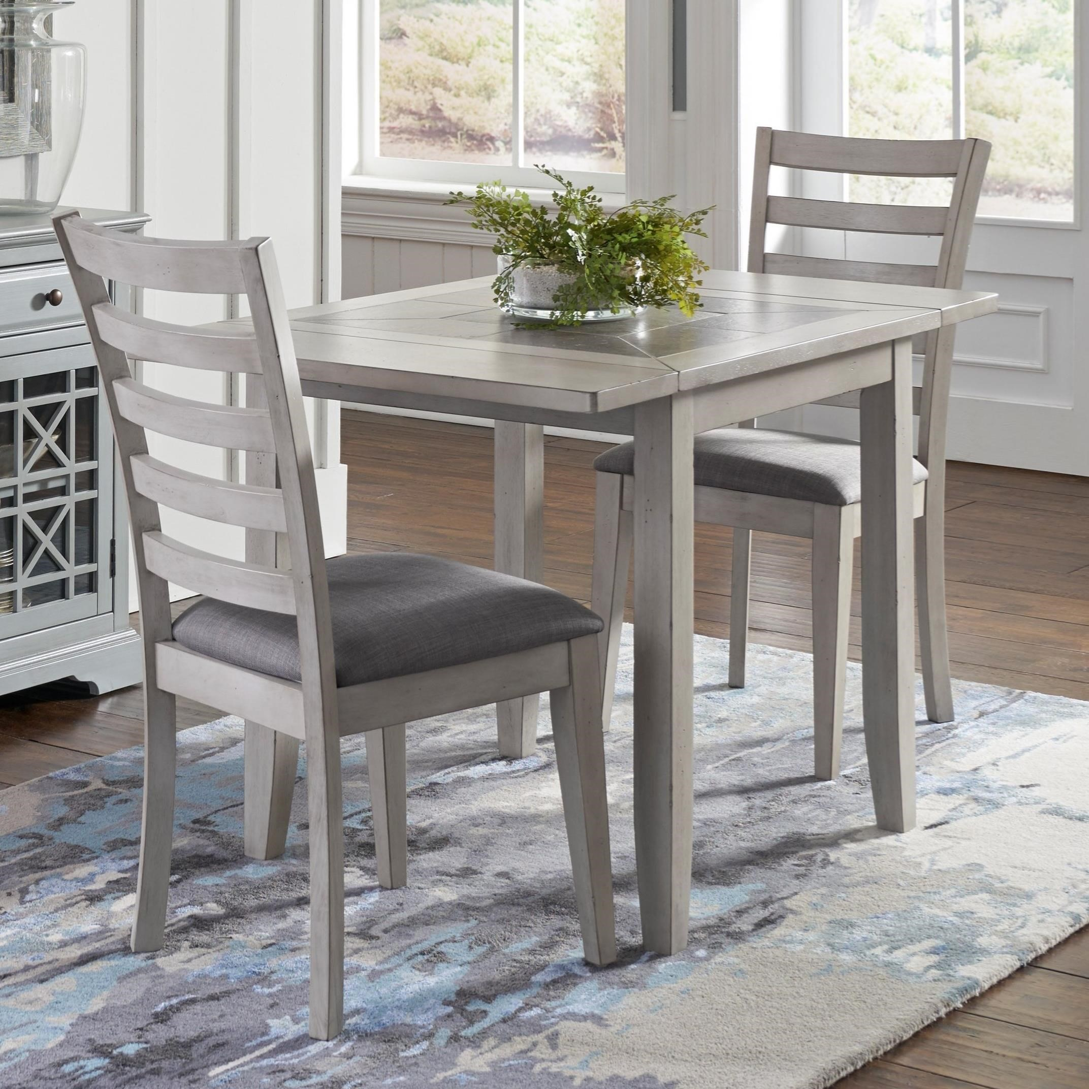 Sarasota Springs Drop Leaf Table and 2 Chair Set by Jofran at SuperStore