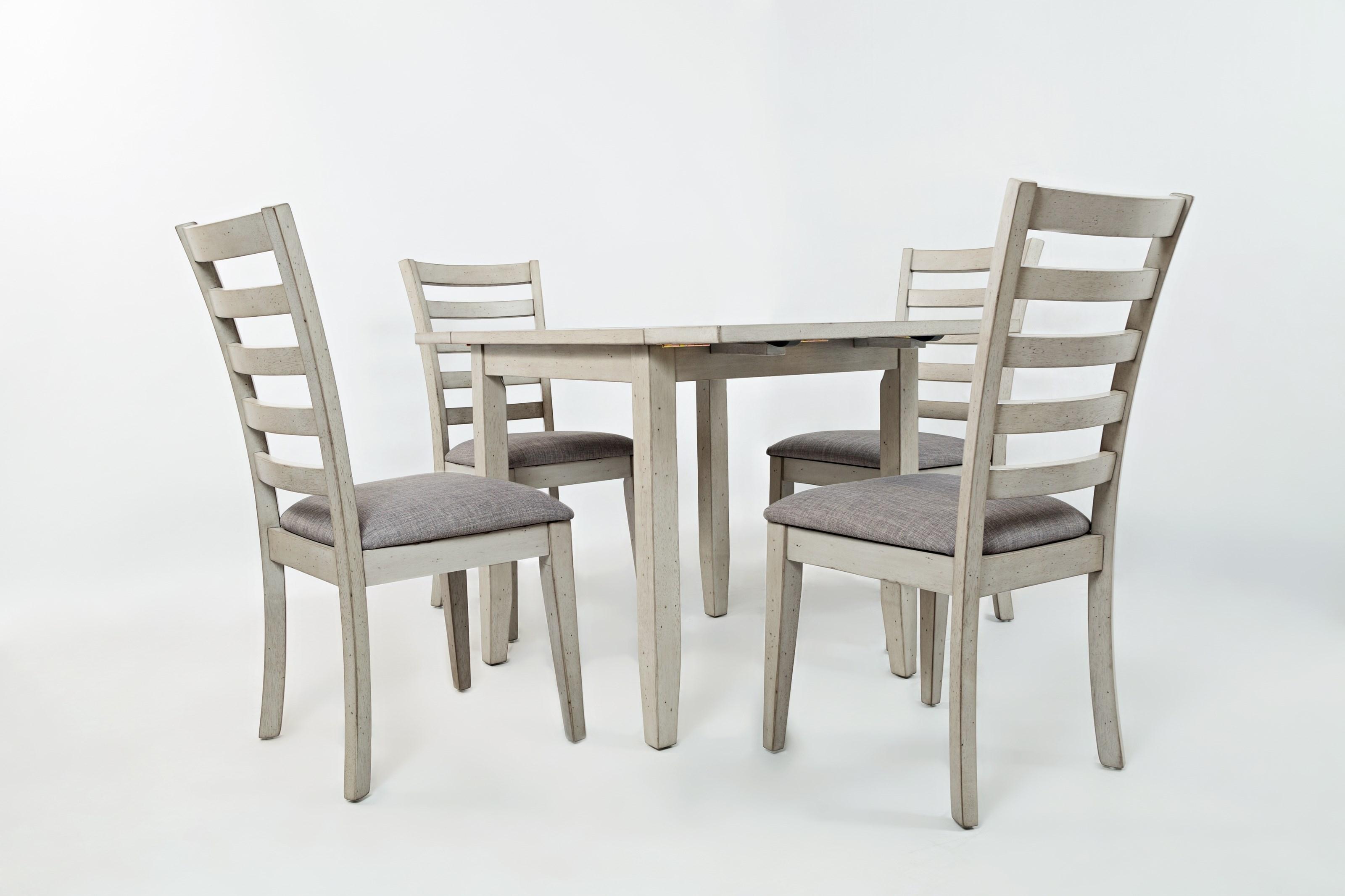 Sarasota Springs Drop-Leaf Table and 4 Chair Set by Jofran at Jofran