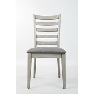 Ladder Back Dining Chair with Upholstered Seat