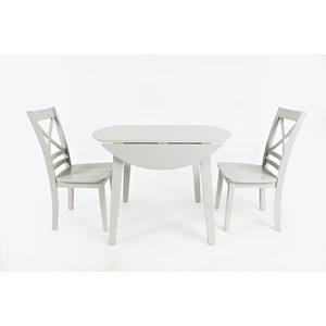 Round Drop Leaf Table and Chair Set