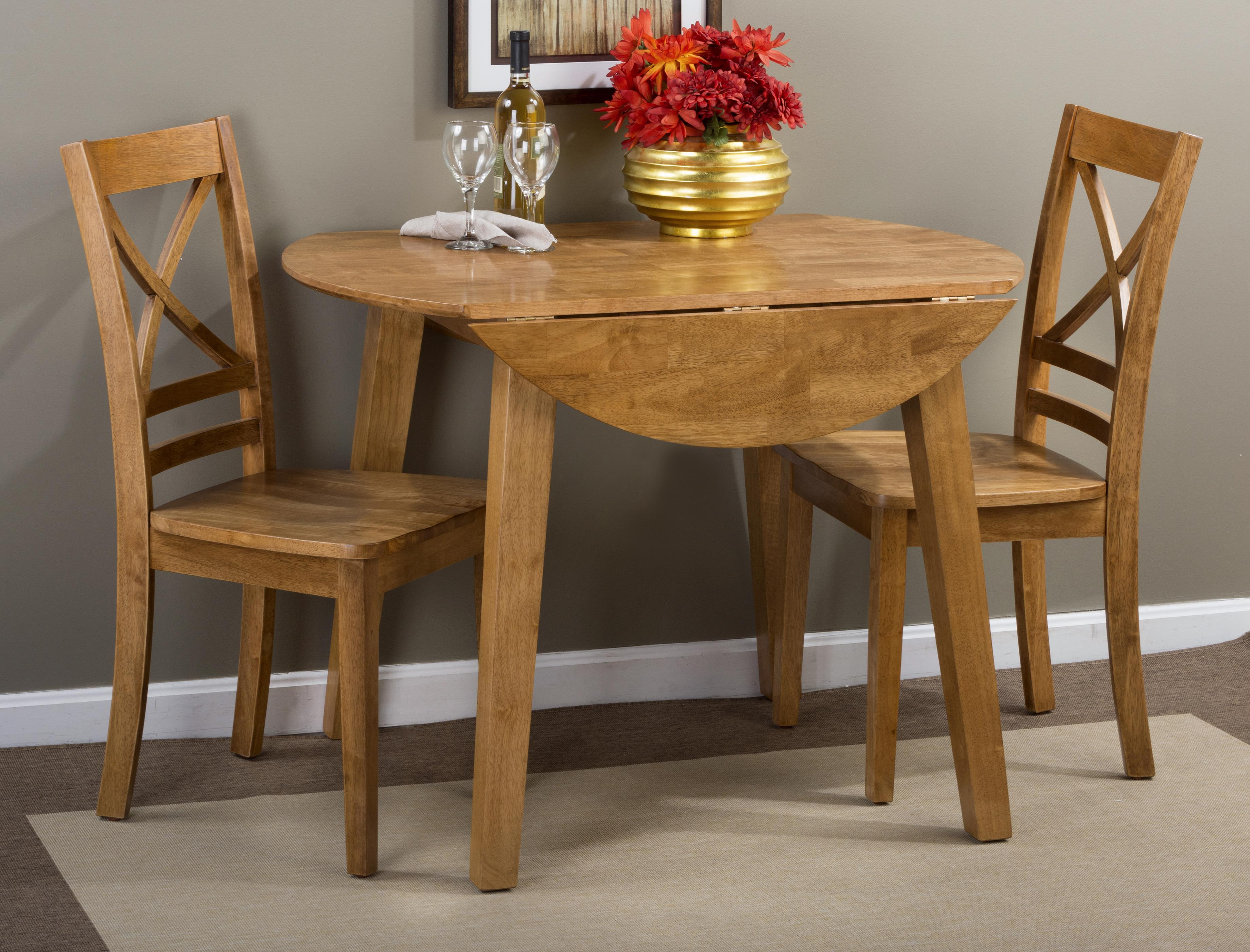 Simplicity Round Table and 2 Chair Set by Jofran at Jofran