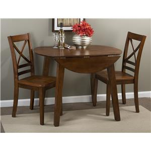 "Round Table and 2 Chair Set (with ""X"" Back Chairs)"