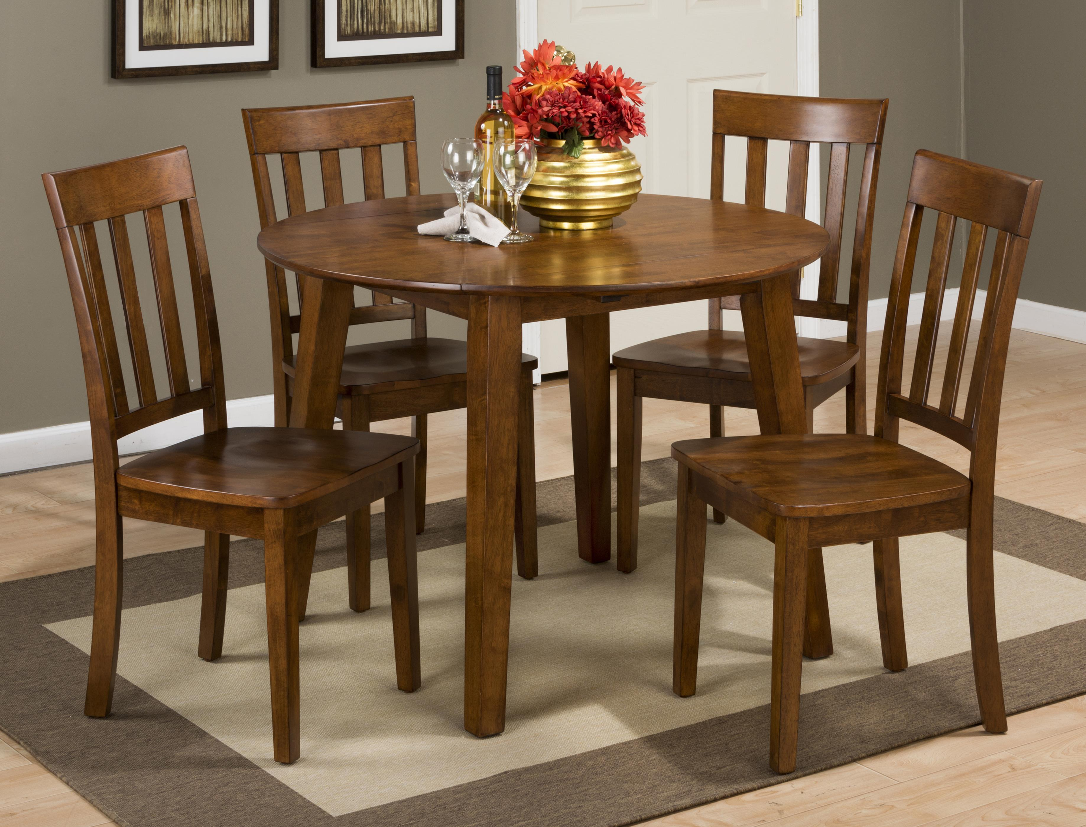 Simplicity Round Table and 4 Chair Set by Jofran at Simply Home by Lindy's