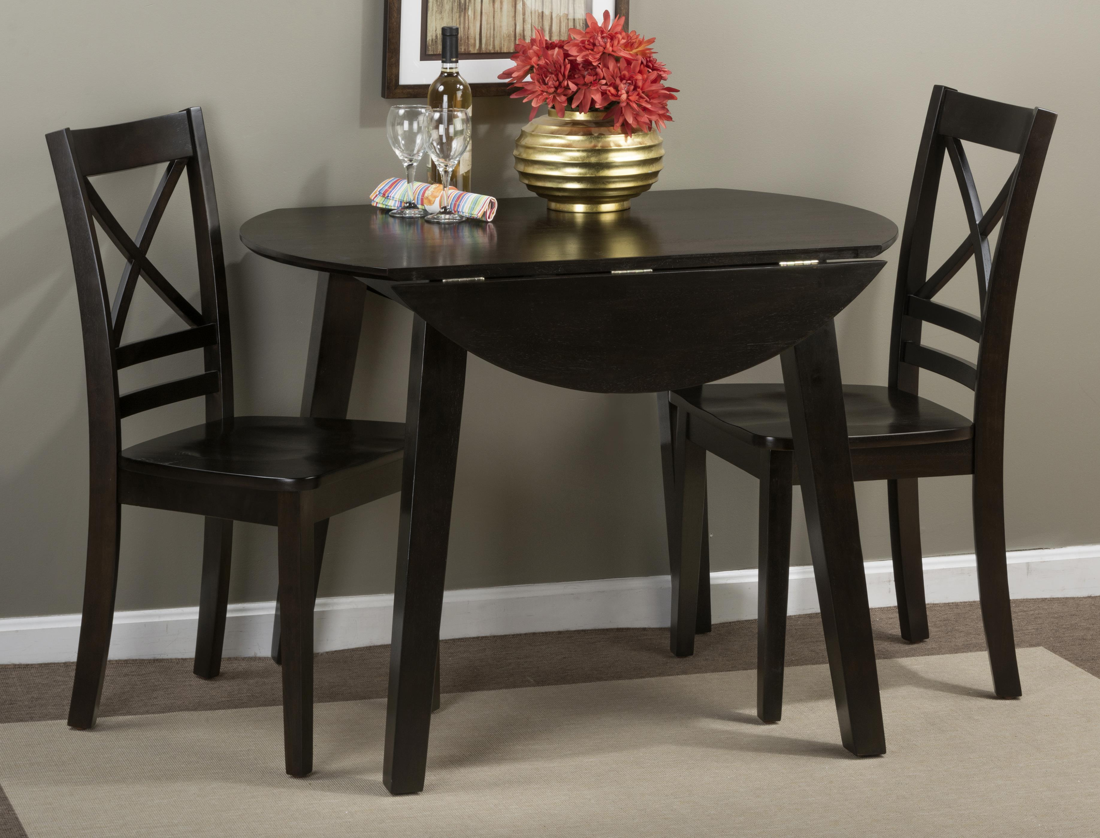 Simplicity Round Table and 2 Chair Set by Jofran at Stoney Creek Furniture