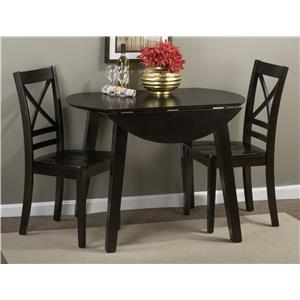 """Round Table and 2 Chair Set (with """"X"""" Back Chairs)"""