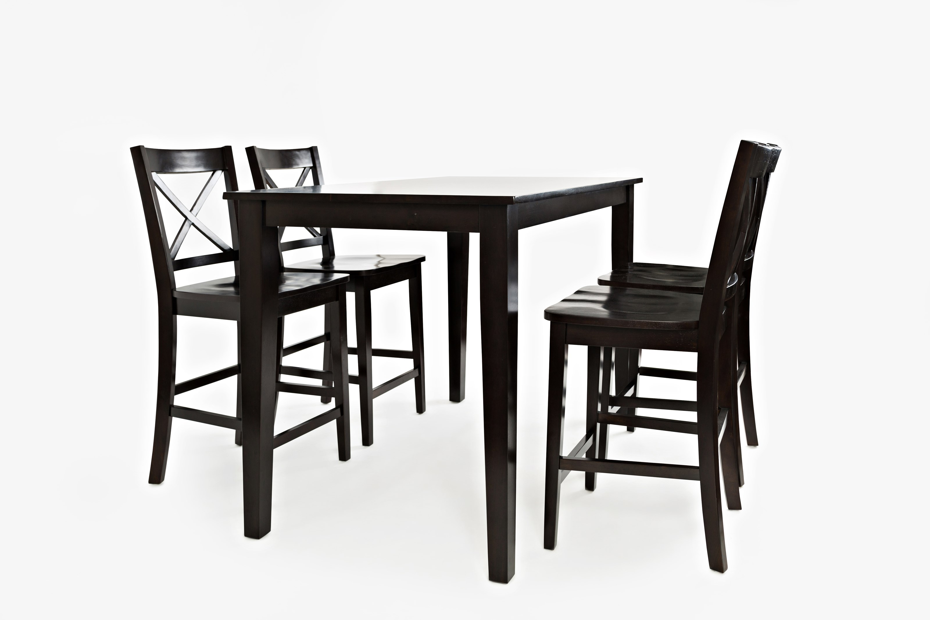 Simplicity Rectangle Counter-Height Table and Chair Set by Jofran at Jofran
