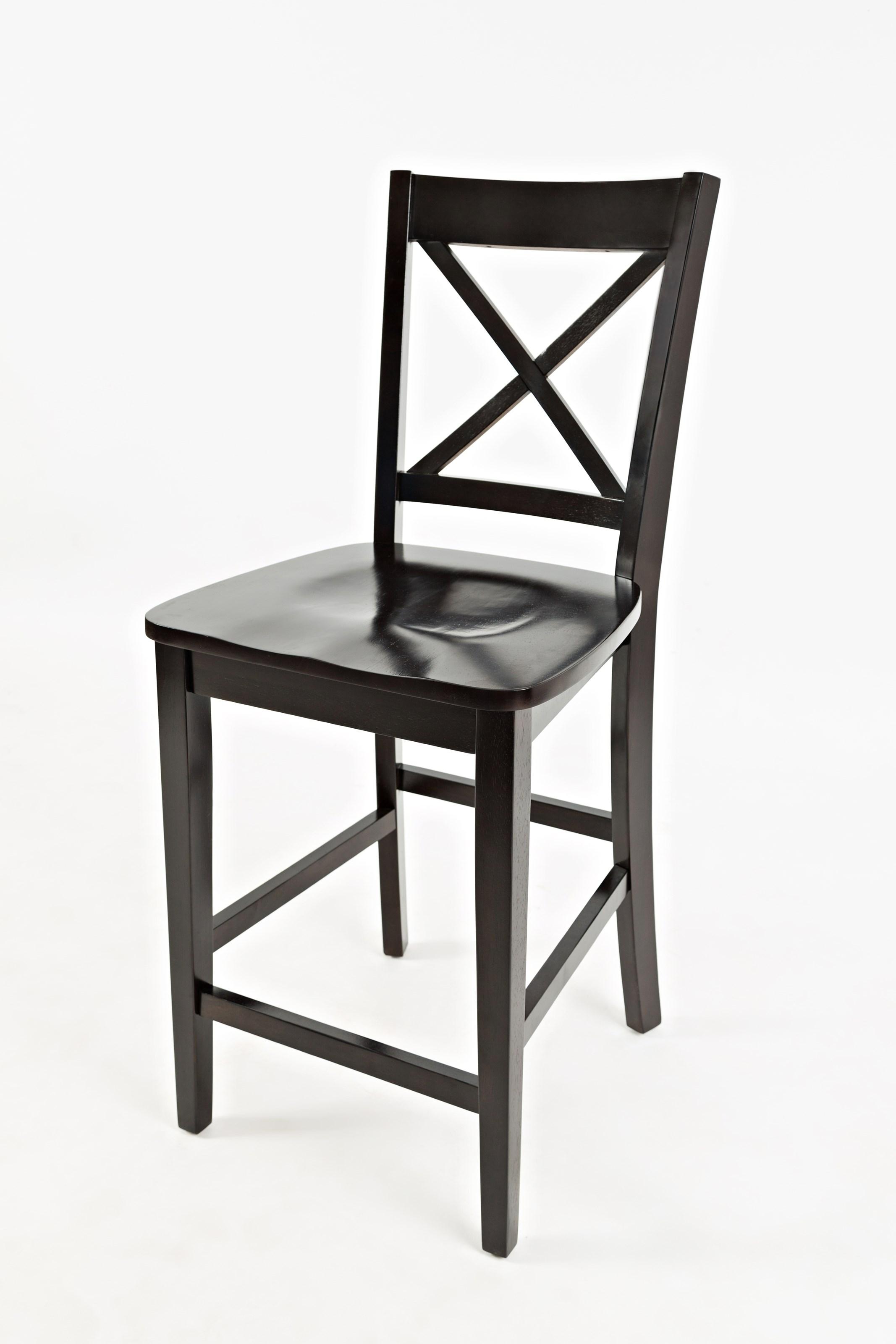 Simplicity X-Back Stool - Counter Height by Jofran at Jofran