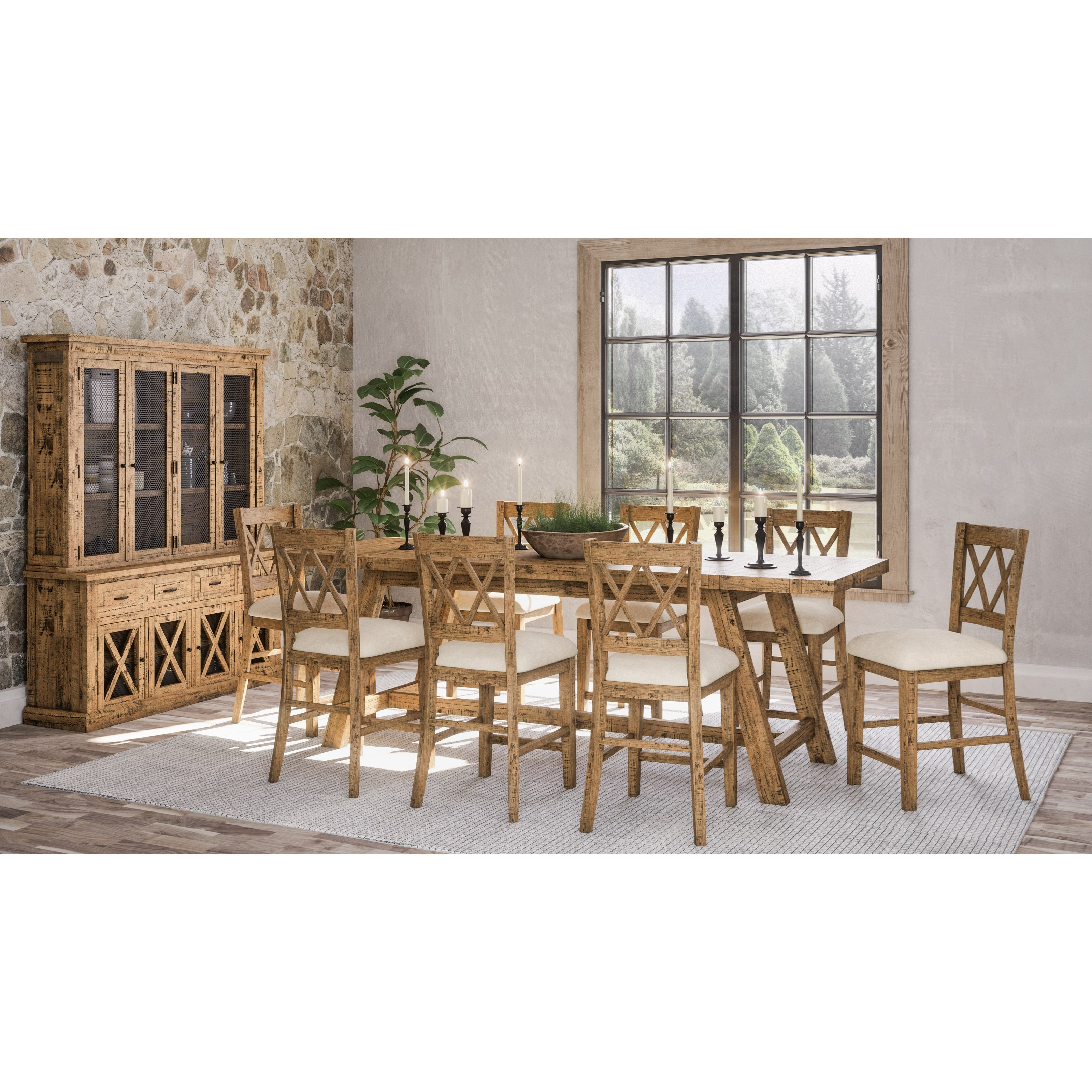 Telluride  9-Piece Counter Height Table and Chair Set by Jofran at Bullard Furniture