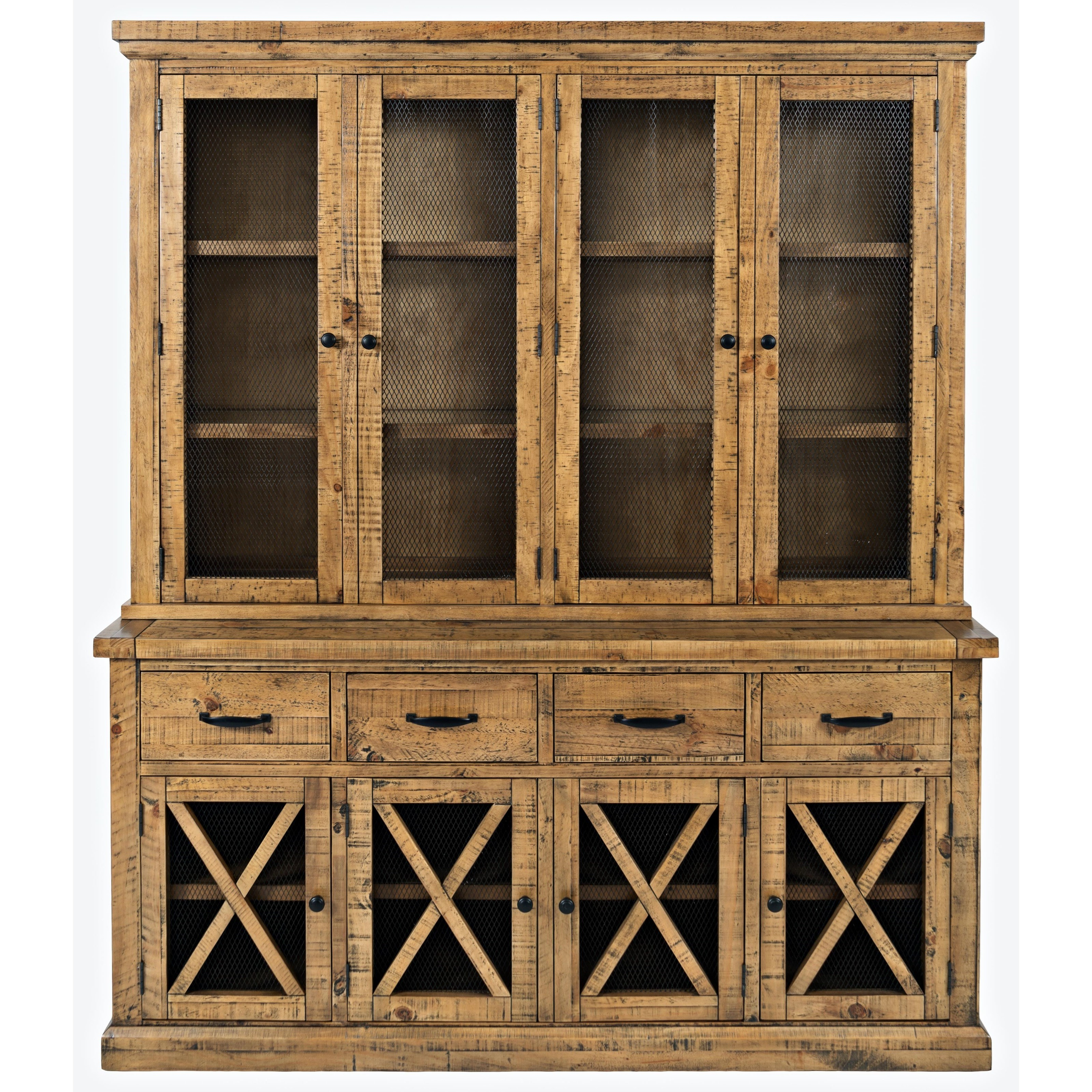Telluride  Hutch with Touch Light by Jofran at Pilgrim Furniture City