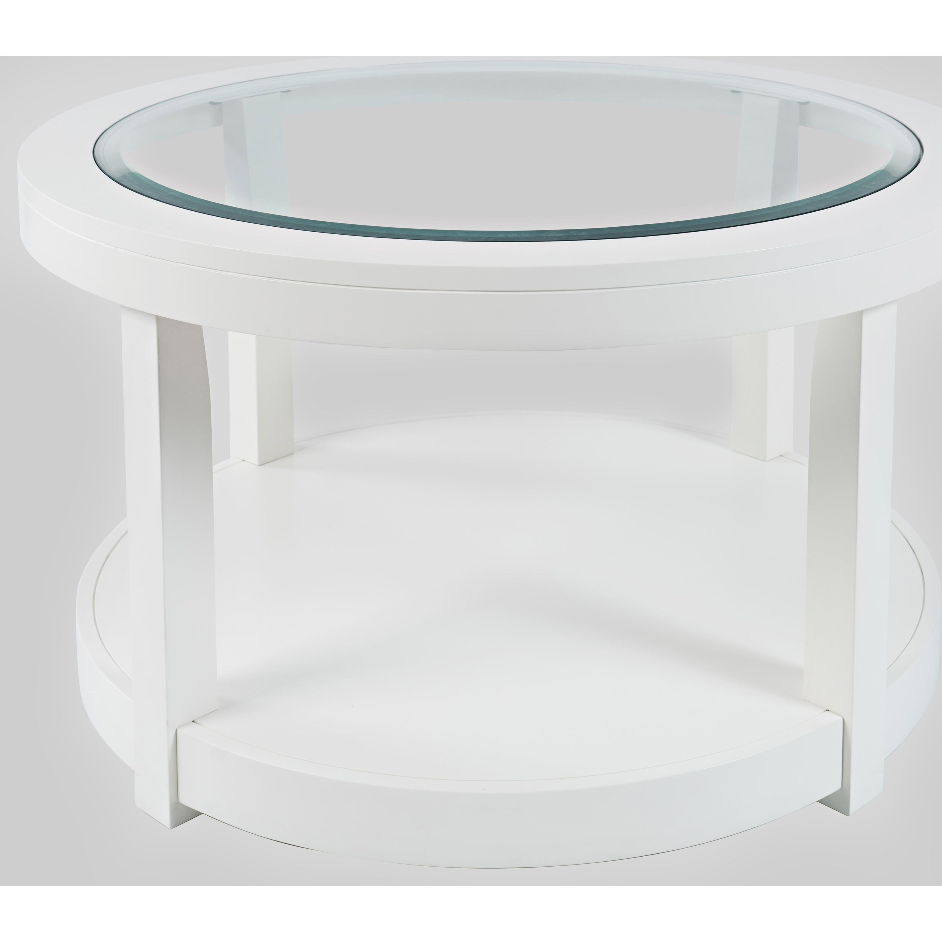 Urban Icon Round Castered Cocktail Table by Jofran at Jofran