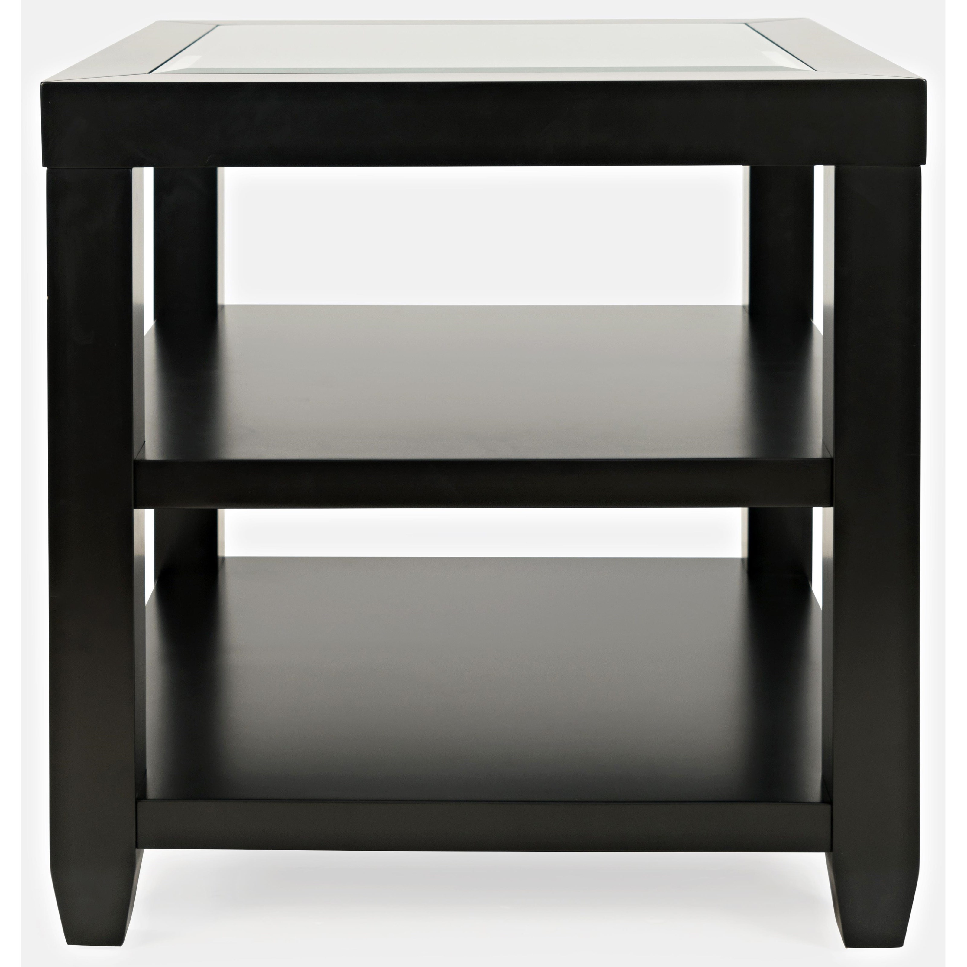Icon Black End Table at Walker's Furniture