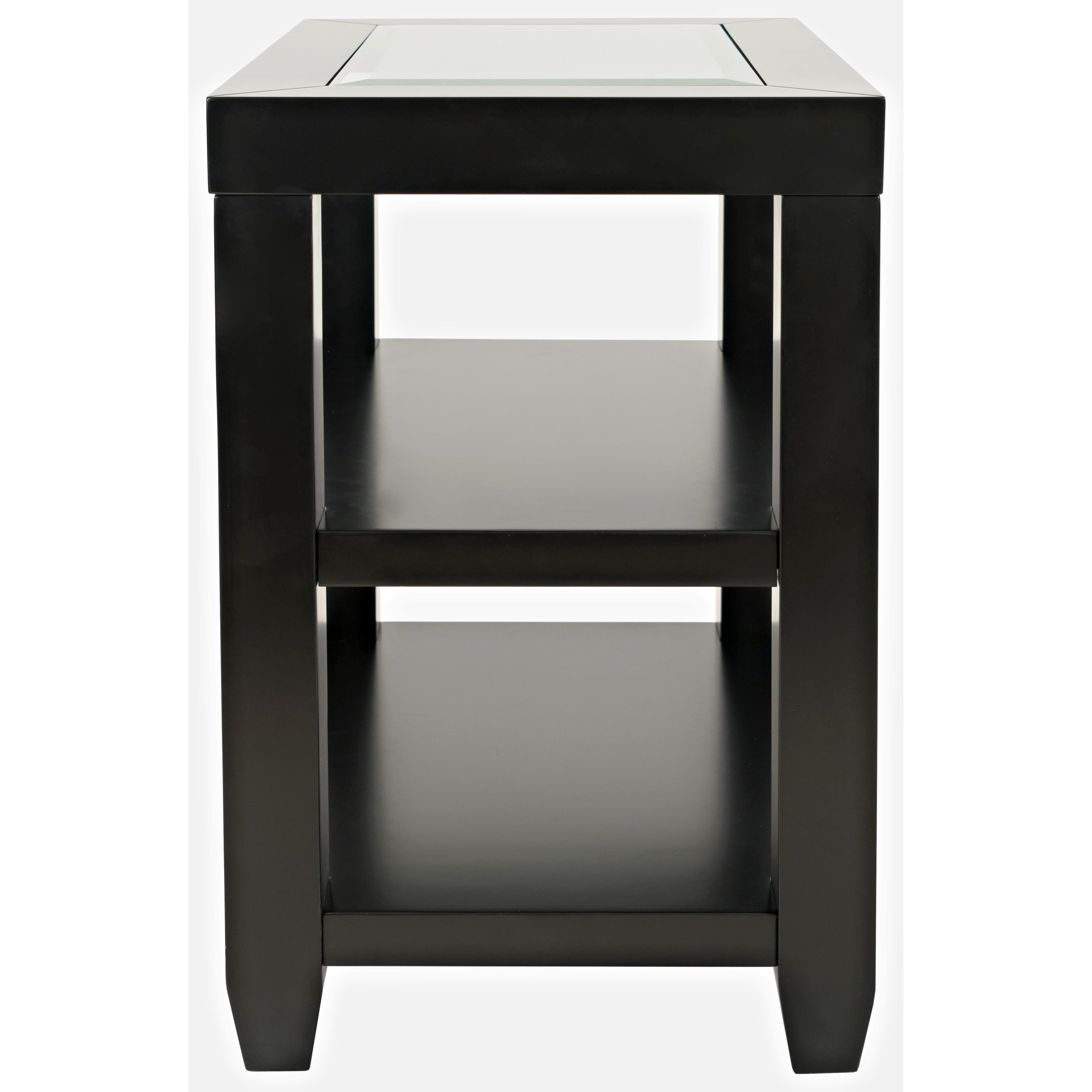 Icon Black Chairside Table at Walker's Furniture