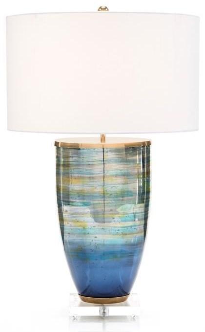 Lighting Blue Table Lamp by John-Richard at Jacksonville Furniture Mart