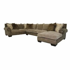 Down 3 PC Chaise Sectional