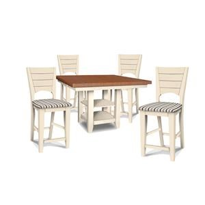 High Table and 4 Counter Stools