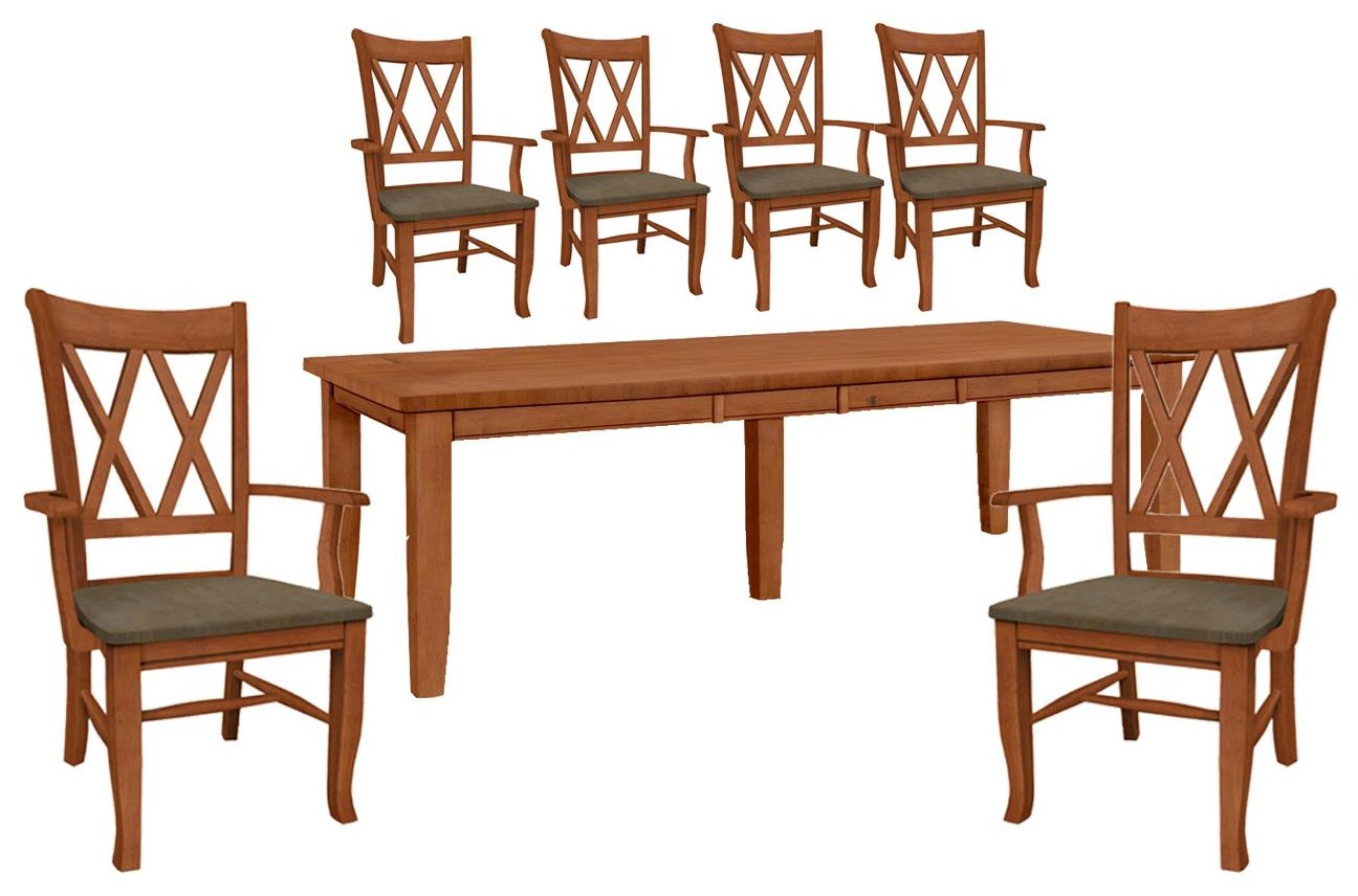 Dining Essentials Table and 6 Side Chairs by John Thomas at Johnny Janosik