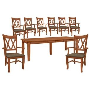 Table and 8 Side Chairs