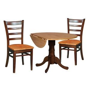 Table and 2 Ladderback Chairs