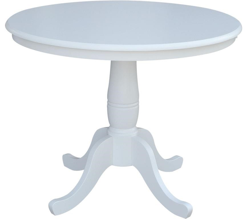 """Dining Essentials 36"""" Pedestal Table by John Thomas at Johnny Janosik"""