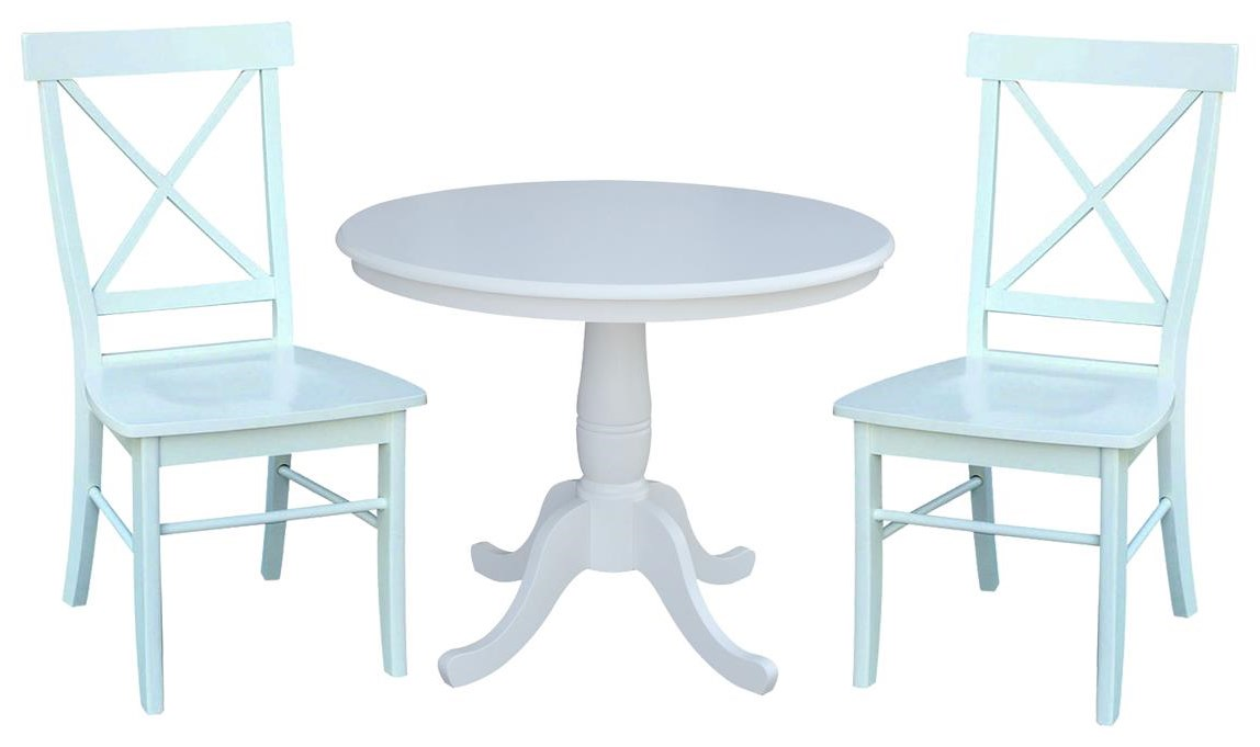 "Dining Essentials 36"" Table and 2 X Back Chair by John Thomas at Johnny Janosik"