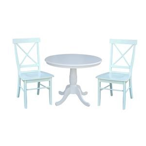 """36"""" Table and 2 X Back Chair"""