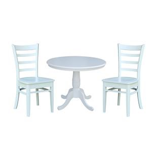 """36"""" Table and 2 Emily Chair"""