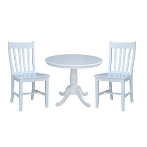 """36"""" Table and 2 Cafe Chairs"""