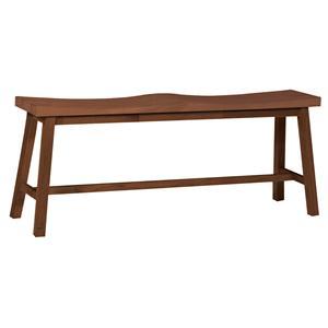 John Thomas Dining Essentials 2-Seat Saddle Dining Bench