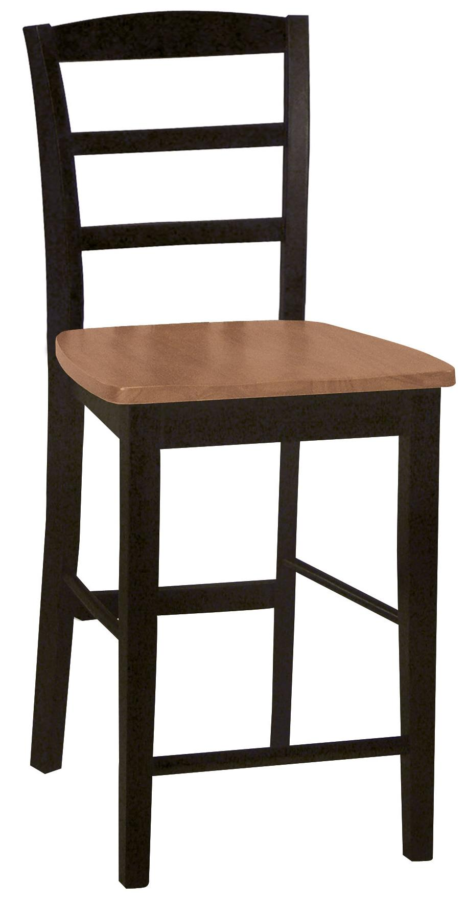 Dining Essentials Ladderback Bar Chair by John Thomas at Furniture Barn
