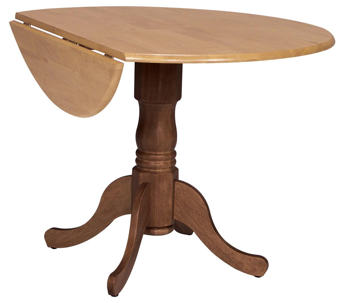 """Dining Essentials 42"""" Round Drop Leaf Pedestal Table by John Thomas at Johnny Janosik"""