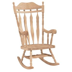 John Thomas SELECT Home Accents Carved Back Rocker
