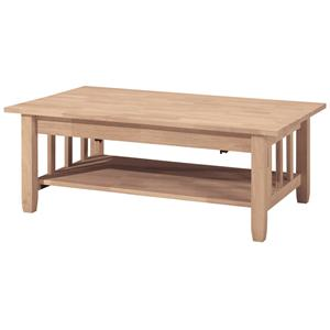 John Thomas SELECT Home Accents Mission Lift-Top Coffee Table