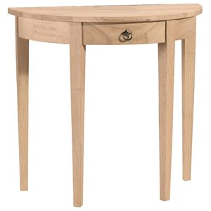 John Thomas SELECT Home Accents Half Round Table