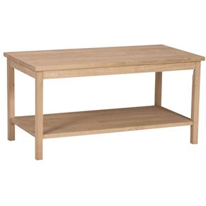 John Thomas SELECT Home Accents Casual Coffee Table with Shelf