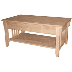 John Thomas SELECT Home Accents 1-Drawer Mission Coffee Table