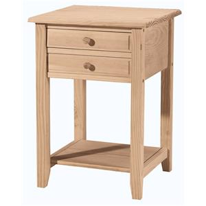 John Thomas SELECT Home Accents 2-Drawer Lamp Table