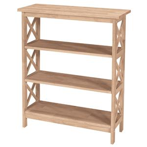 John Thomas SELECT Home Accents 3-Shelf X Bookcase