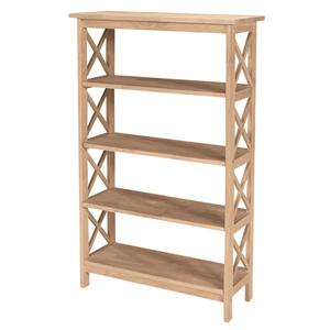 John Thomas SELECT Home Accents 4-Shelf X Bookcase