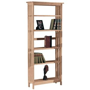 John Thomas SELECT Home Accents 5-Shelf Mission Bookcase