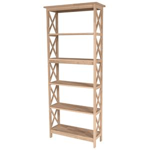 John Thomas SELECT Home Accents 5-Shelf X Bookcase