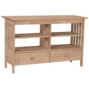 """John Thomas SELECT Home Accents 48"""" Mission Entertainment Stand"""
