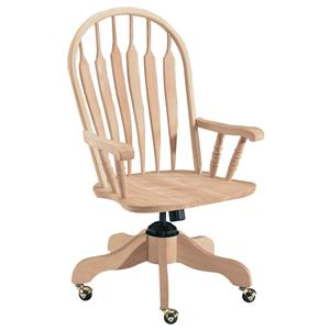 John Thomas SELECT Home Office Deluxe Steambent Windsor Arm Desk Chair